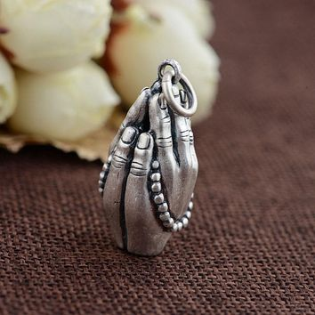 Sterling Silver Prayers of Buddha Pendant