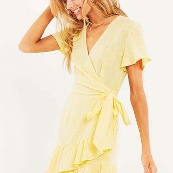 Raine Dress - Yellow
