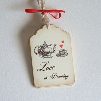 Love is Brewing Tags -  Bridal Shower - Tea Party