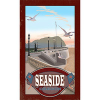 Personalized Seaside Oregon Wood Sign