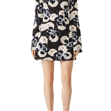 Suno Mock Neck Floral Printed Dress