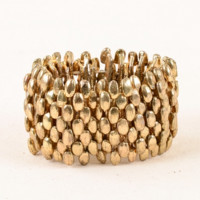 HONEYCOMB METAL BRACELET GOLD