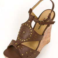 Trendy Espradrille Wedge Cork Brown Nude Rizzo-S Natural Cork D Womens Wedges- Womens Peep Toe Wedges Womens Sandal Wedges from For Elyse