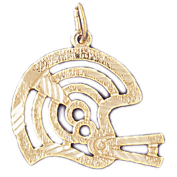 14K GOLD SPORT CHARM - FOOTBALL HELMET # 3205