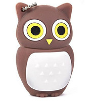 8GB Novelty Cute Baby Owl USB 2.0 Flash Drive Data Memory Stick Device - Brown and White