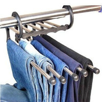 Trouser Ties Scarf Shawl Retractable Rack Hanger Multi 5 in 1 Space Saving = 1958291140