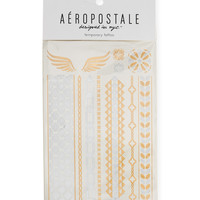 Aeropostale  Temporary Tattoos - Gold, One