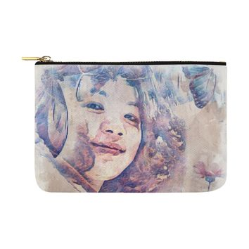 Levi Thang Vintage Face Design V Carry-All Pouch 12.5''x8.5''