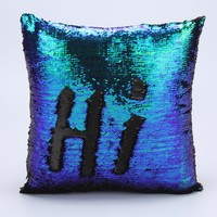 Glitter Sequins Pillow Decorative Cover