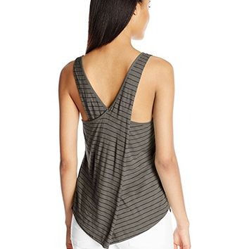 Women's Striped Cross Back Tank
