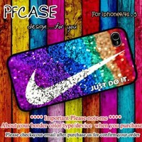 Nike just do it on glitter Case For Iphone 44s 5 Samsung S234 by pfcases12 on Zibbet