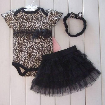 Baby Clothing Set  Romper+Tutu Skirt+Headband Newborn Spring Summer Dress = 1930413124
