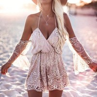 Women Off The Shoulder Tunic Casual Summer Playsuit