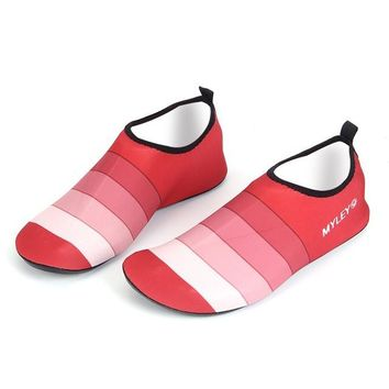 Water Shoes for Men and Women Striped Beach Pool Dance Swim Surf Yoga Shoes