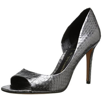 Vince Camuto Womens Timily Leather Snake Print D'Orsay Heels