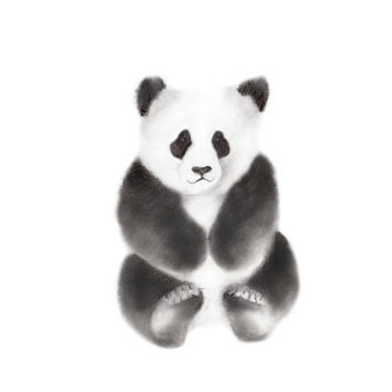 Panda Nursery Art, Pencil Drawing, Grey Nursery Decor, Baby Boy Nursery, Baby Animal Print, Baby Animal Art, Baby Wall Decor
