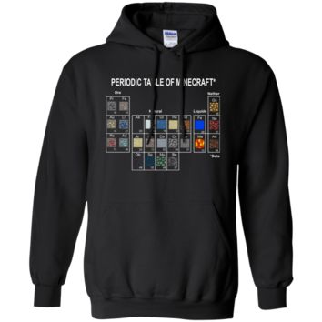 Minecraft Periodic Table T shirt G185 Gildan Pullover Hoodie 8 oz.