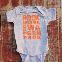 Wagon Wheel Onesuit - Heather Grey