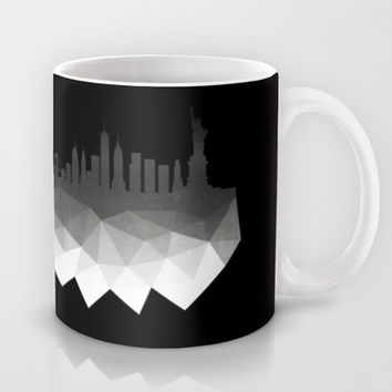 New York concrete silhouette Mug by Cafelab