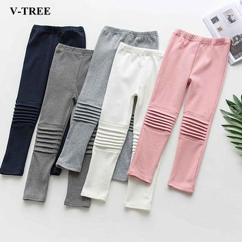 Cotton Slim Trousers Pants For Kids Girls