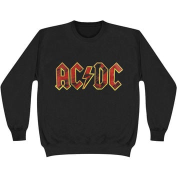 AC/DC Men's  Multicolour Logo Sweatshirt Black