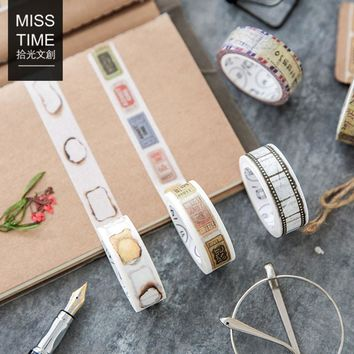 1 pcs MISS TIME vintage life 1.5cmX7m washi tape children diy Diary decoration masking tape kawaii stationery scrapbooking tools