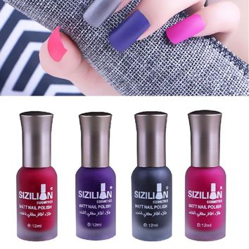 Long-lasting Matte Dull Nails Polish Fast Dry  Nail Art Varnish Lacquer Nail Polish