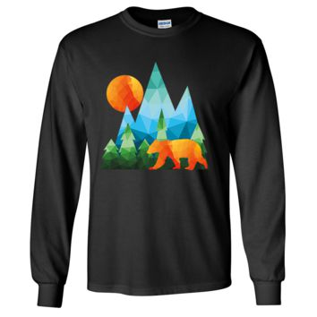 California National Forest Bear Long Sleeve Shirt
