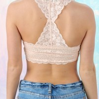 Barely There Bralette-Beige