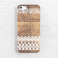 White Floral Lace brown wood print Phone Case for iPhone 6 iPhone 5 5s 5c 4 4s, Sony z1 z3 z2, LG g3 g2 nexus 6 Nexus 5, Moto x Moto g -G8