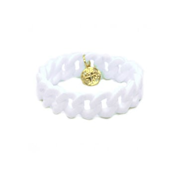 White Rubber Bracelet