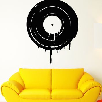 Vinyl Wall Decal Records Disk Retro Style Music Lover Stickers Unique Gift (1679ig)