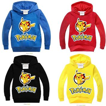 children Hoodies Sweatshirts t shirt pokemon shirt kids girls tops shirts girl t-shirt boy tshirt boys tee shirt clothes costume