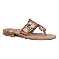 Exclusive West Hampton Sandal in Rose Gold by Jack Rogers - FINAL SALE