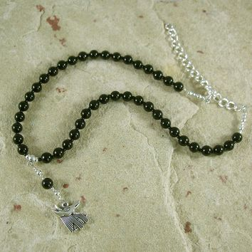 Anubis Necklace in Onyx (Adjustable): Egyptian God of the Underworld and the Afterlife