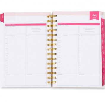 Day Designer Rugby Stripe Daily/Monthly 5 x 8 Planner July 2015 - June 2016