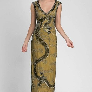Sue Wong - Embroidered V Neck Long Gown N3437