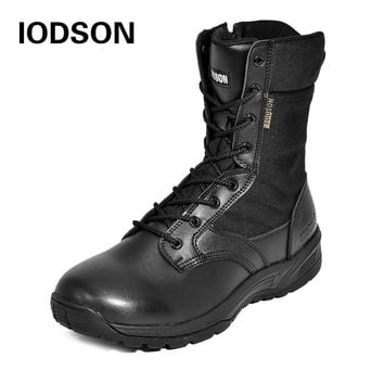 Winter Outdoor Thicker Snow Boot Men's Woker Safety Shoes Military Combat Boot Special Force Tactical Athletic Waterproof Shoes