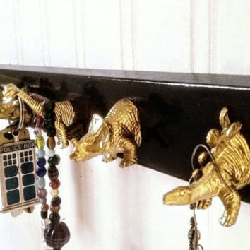 Dinosaur Key Rack | Key Hooks | kitch decor | Cute Gift | Eclectic Decor