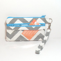 Aqua ID Wallet - Clear Id Wallet - Credit Card Wallet - Business Card Holder - School Id Bag - Id Pocket Clutch - Wallet Wristlet - Clutch