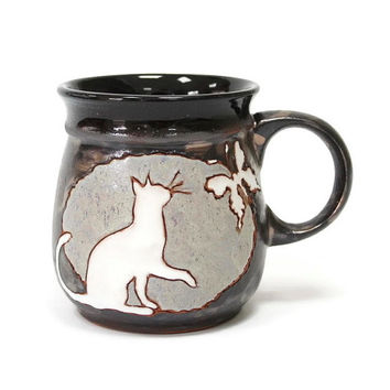 Mug, Coffee Mug, Coffee Cup, Ceramics and Pottery, Animal Mug, Mug Handmade, Ceramic Mug, Pottery Handmade Mug, Funny Cup Cat, Cup, Clay Mug