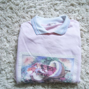 Pastel Pink Kitten 90's over-sized sweatshirt