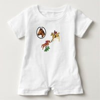 COMFY COZY BABY ROMPER 100% HEATHER COTTON