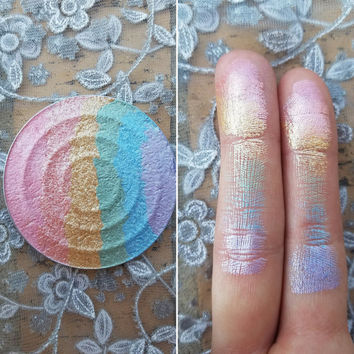 Rainbow Highlighter - Large 57mm Pressed Pan, Mineral Makeup, Mineral Highlighter & Eyeshadow