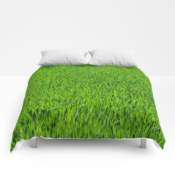 Green Grass Pattern Comforters by PRODUCTPICS