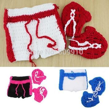 Baby Shorts boxing Gloves Set Boxer baby Shower Gift 3 Colors H206