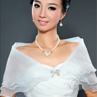 Wedding Bridal Organza Wrap Shawl Shrug Bolero Coat Party Cocktail Superb [7981372423]