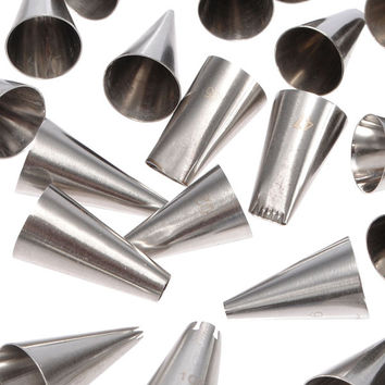 Stainless Steel Cake Decorating Nozzles Craft Tip Pastry Set - 52 pieces