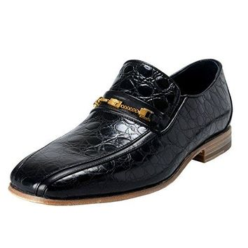 75caff02ff1885 Versace Men s Black Croc Print Leather Loafers Shoes US 9 IT ...