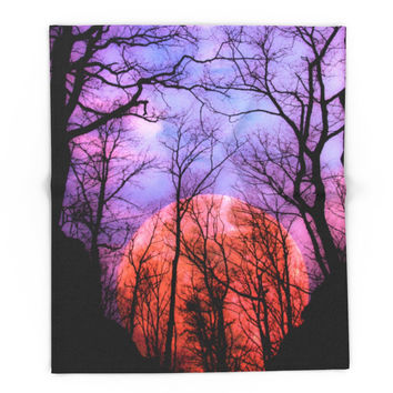 Society6 Moonrise Canyon Blanket